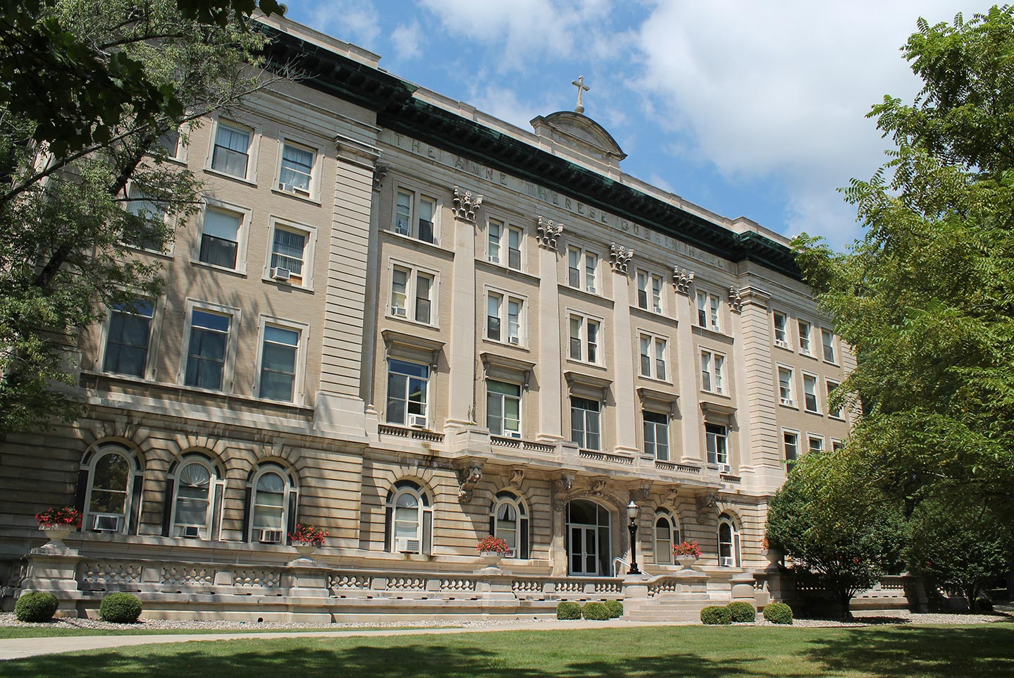 Exterior view of Guerin Hall
